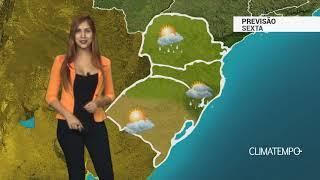 Previsão Sul - Chuva com raios
