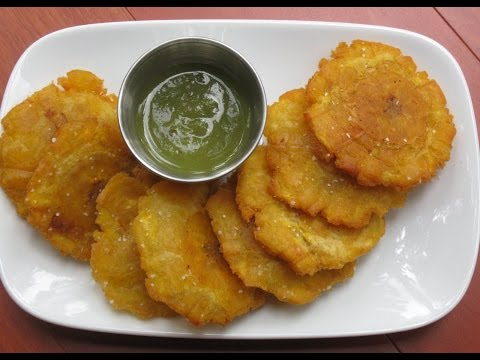 How Jamaicans Fry Green Plantains (Tostones)