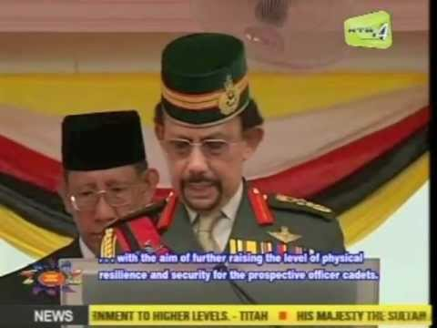 His Majesty the Sultan of Brunei delivers a titah at the Eighth Sovereign Parade.