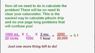How to Calculate Pitocin Drips