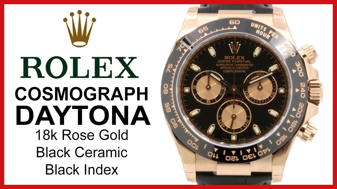 Rolex Cosmograph Daytona 18k Rose Gold Ceramic Bezel Review