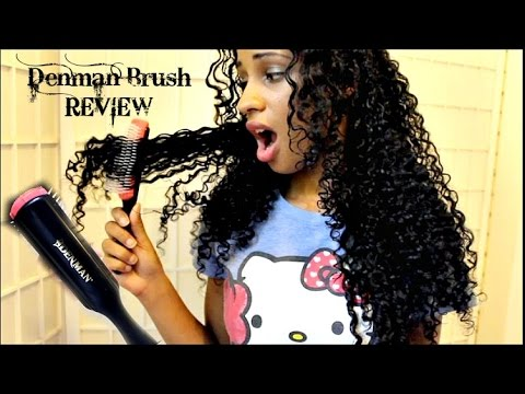 DENMAN Brush On WET THICK CURLY HAIR REVIEW