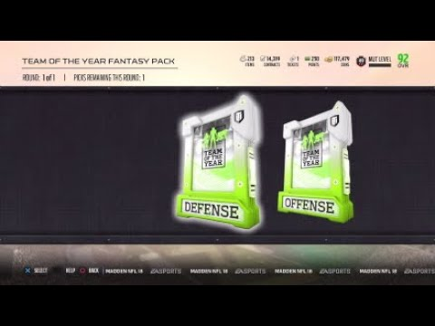 I PULLED THE BEST TOTY DEFENSIVE PLAYER  - Madden 18 (Level 49 pack)