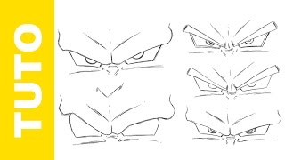 Comment dessiner Dragon Ball Z les Yeux - Tutoriel