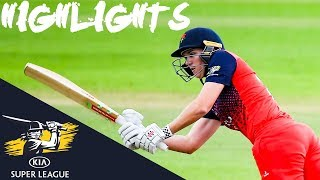 Adams Hits 50 in Rain-Affected Match | Thunder vs Lightning | Kia Super League 2019 - Highlights