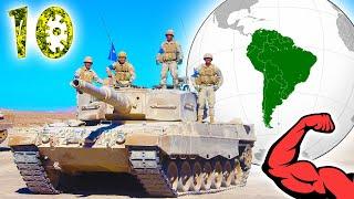 Чья армия в ЮЖНОЙ АМЕРИКЕ самая сильная ?⭐ 10 мощнейших стран континента