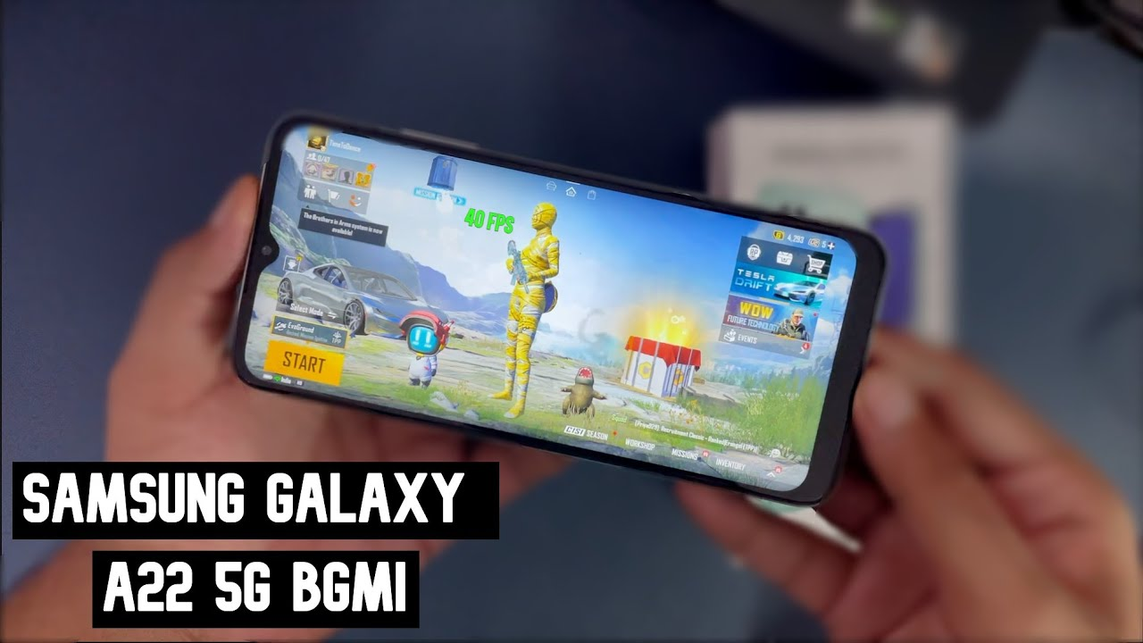 Samsung Galaxy A22 5G BGMI Gaming Review with FPS & Heating   Gyro, PUBG Gameplay