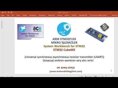 ARM STM32F103 DERS 6: USART- UART- Universal synchronous