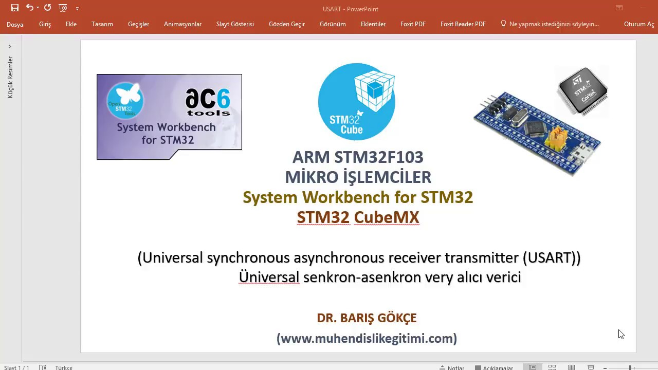 ARM STM32F103 DERS 6: USART- UART- Universal synchronous asynchronous  receiver transmitter (USART)
