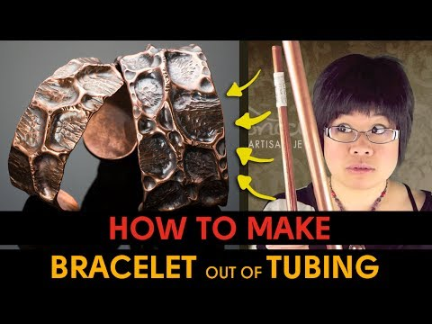 How to Make Bracelet out of Copper Pipe Tubing - WATCH & LEARN #2