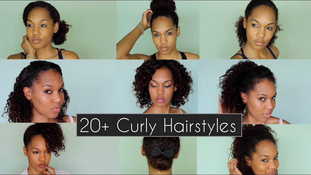 20+ quick & chic curly hairstyles for everyday & nights out | curly hair tutorial ◌ alishainc