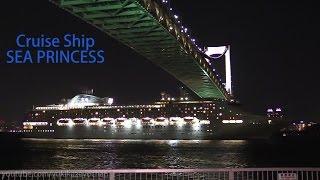 Night View - Cruise Ship: SEA PRINCESS (Princess Cruises) at Port of Tokyo