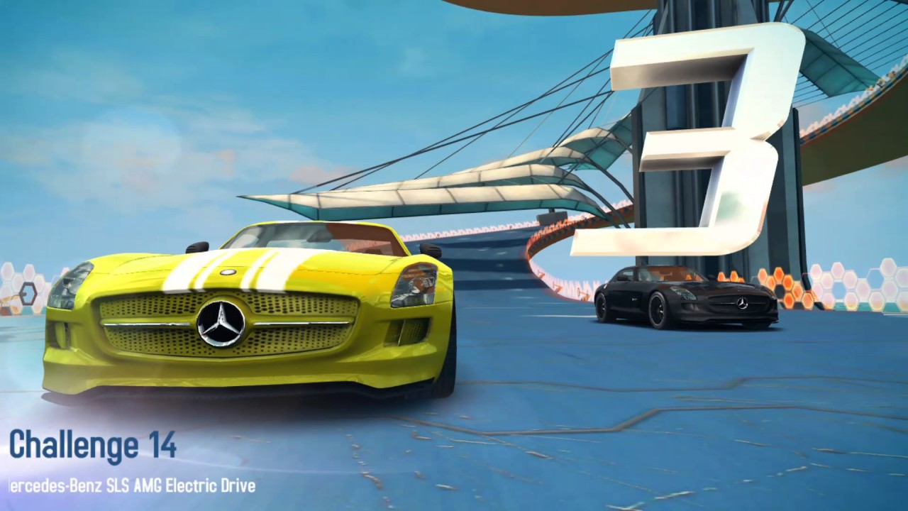 Asphalt 8 Airborne Gameplay #136 - Mercedes-Benz SLS AMG Electric Drive  Challenges and gameplay