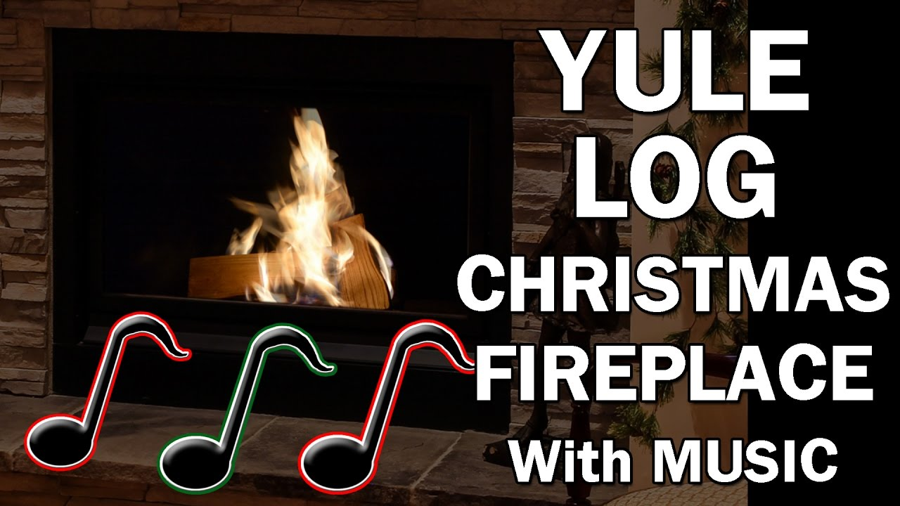 Yule Log Christmas Fireplace with Christmas Music - 10 Hours - YouTube