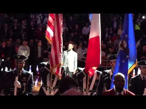 R Kelly sings national anthem