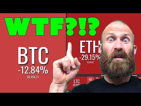 Why are Bitcoin & Crypto Prices Crashing???  WTF?!?