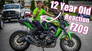 homepage tile video photo for 12 year old Reaction to Modded FZ09 MT09