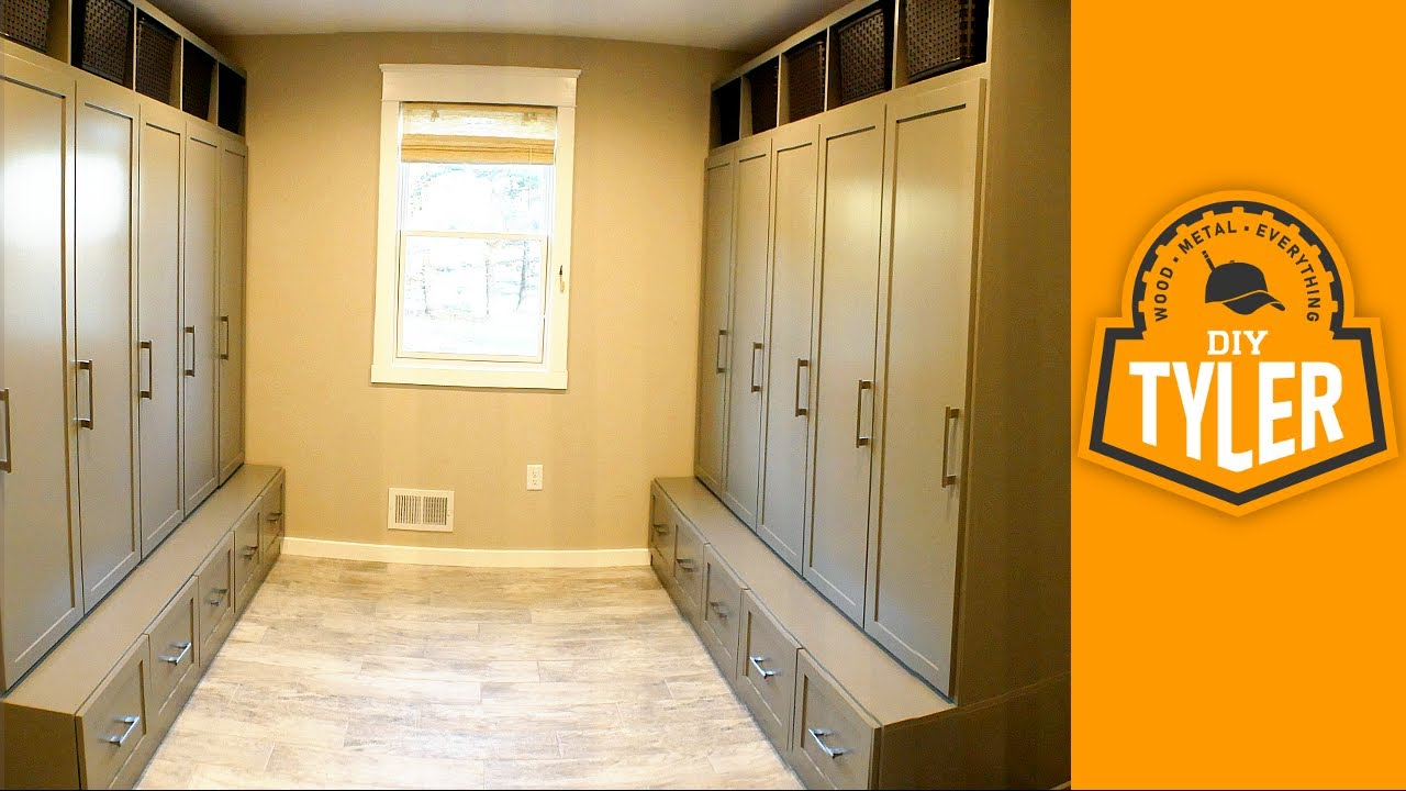 How To Build Lockers For A Mudroom