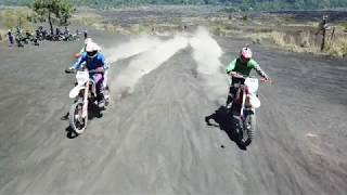 Indian Bikers Riding Up A Volcano in Bali