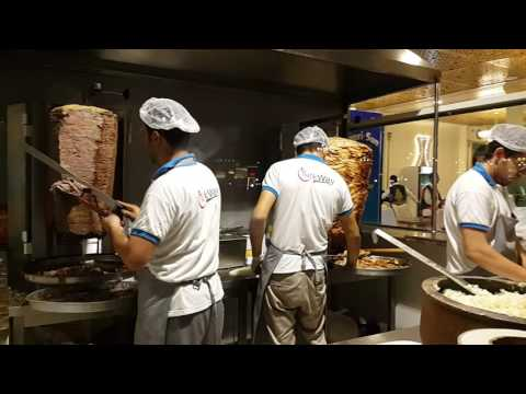 World's largest Turkish Shawerma at Global Village in Dubai 17.11.2016