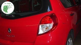 Changer ampoules feu arrière Clio 3.