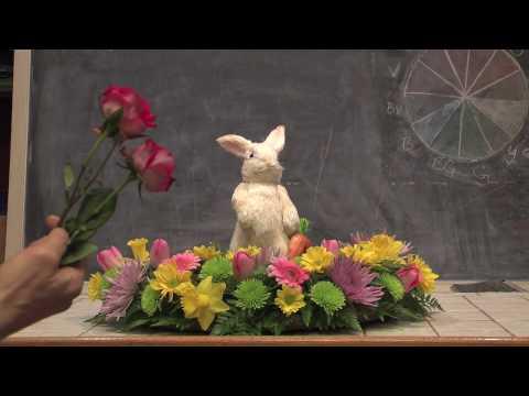 Easter Bunny Vase Arrangement Youtube