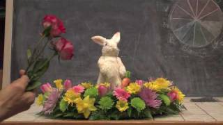 Easter Bunny Vase Arrangement