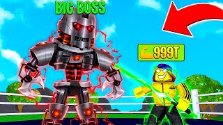 GETTING 999,999,999 POWER to Fight the TITAN BOSS.. (Roblox)