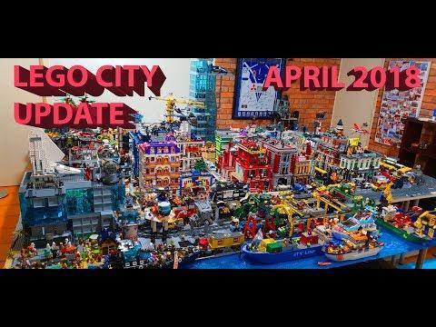 Lego City Update April 2018 - #37 Huge Lego City!!