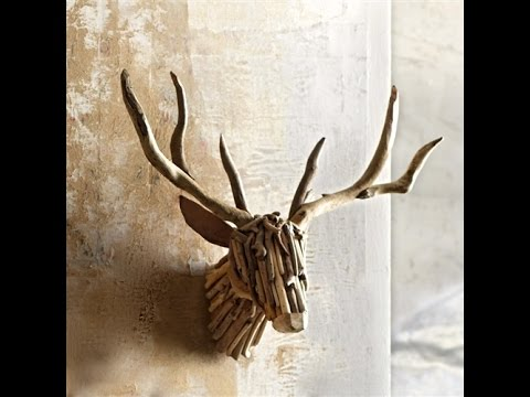 diy deer head mounting with cardboard