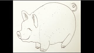 How to Draw a Cartoon Pig in 2 mins