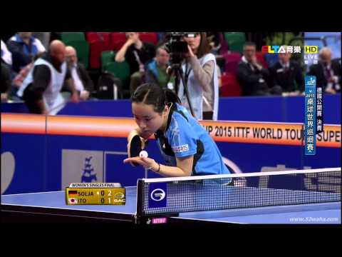 2015 German Open Ws-Final: SOLJA Petrissa - ITO Mima [HD 108