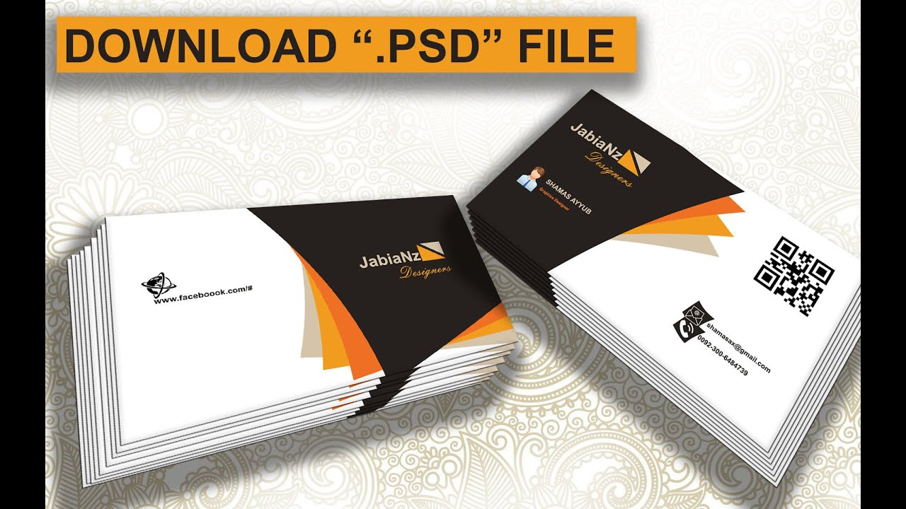 free business card mockup psd file download  youtube