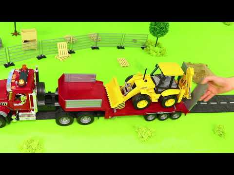 Concrete Mixer, Fire Truck, Tractor, Dump Trucks, Police Cars & Construction Toy Vehicles for Kids