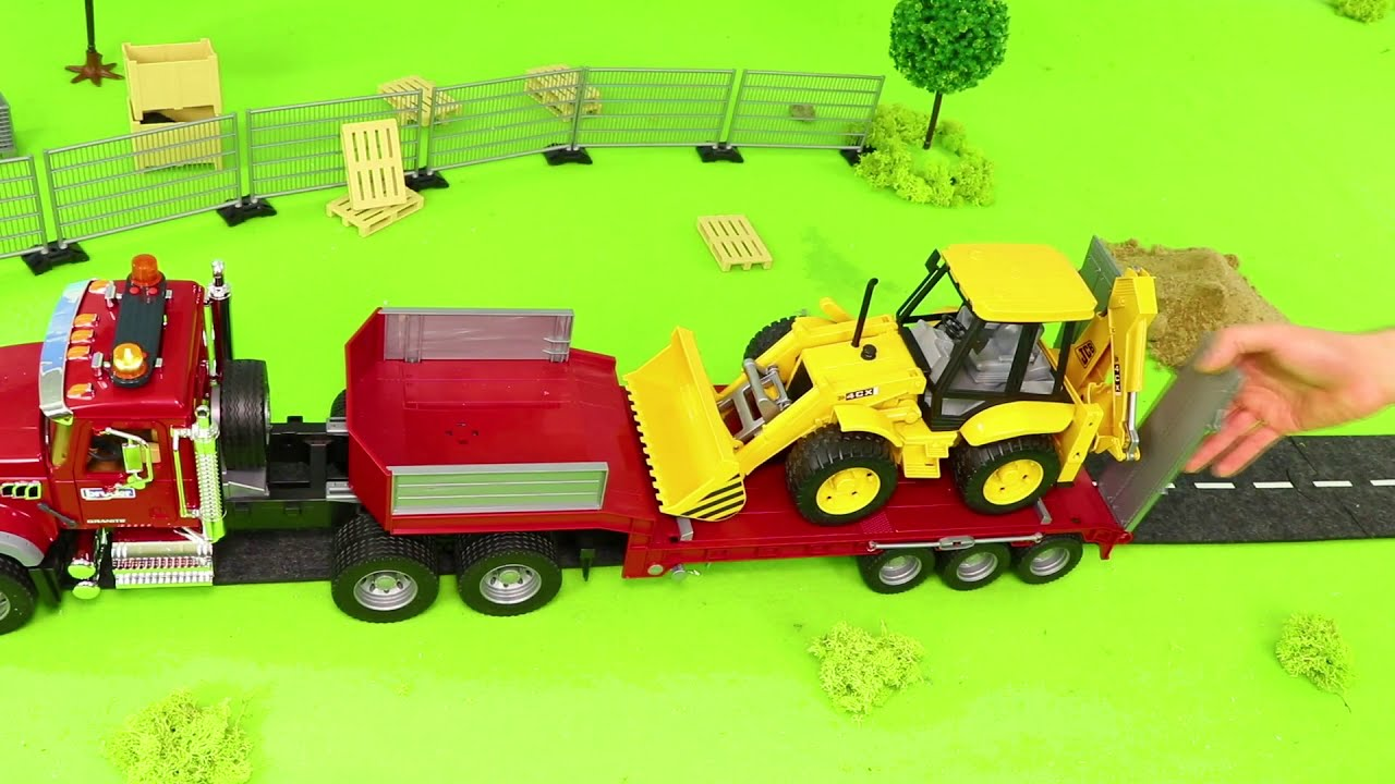 5eccd78f4 Concrete Mixer, Fire Truck, Tractor, Dump Trucks, Police Cars &  Construction Toy Vehicles for Kids