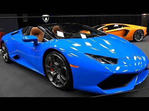 2016 lamborghini huracan lp610 4 spyder exterior and interior walkaround 2017 montreal. Black Bedroom Furniture Sets. Home Design Ideas