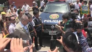 MUNICIPIO CAMPIÑERO RECIBE CAMIONETA Y DEMAS LOGISTICA PARA COMBATIR LA DELINCUENCIA