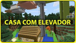 Minecraft Pocket Edition: CASA AUTOMÁTICA COM ELEVADOR !