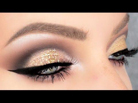 Gold Glitter Cut Crease Stephanie Lange Youtube
