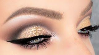 Gold Glitter Cut Crease | Stephanie Lange
