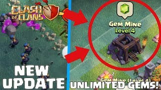 NEW GEM MINE IN CLASH OF CLANS! - NEW BUILDINGS - New Builders Base Update!