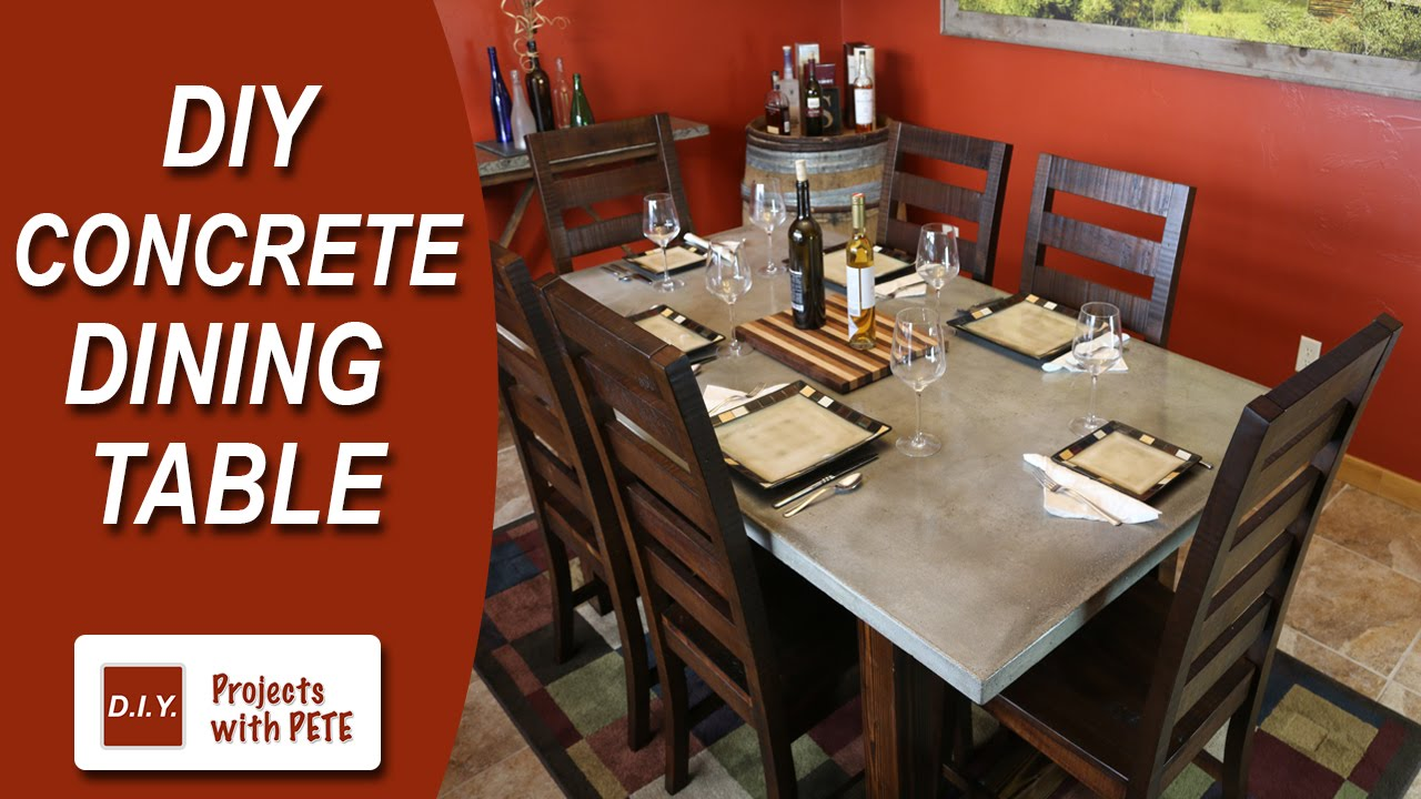 How To Make A Concrete Dining Table. DIY PETE