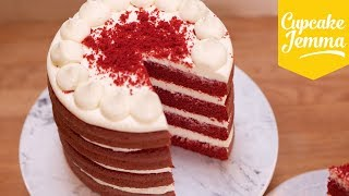 Best Ever Red Velvet Layer Cake Recipe! | Cupcake Jemma