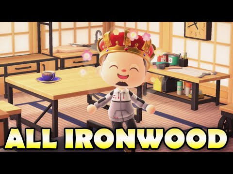 🪑 ALL IRONWOOD ITEMS In Animal Crossing New Horizons & How To Get Them!