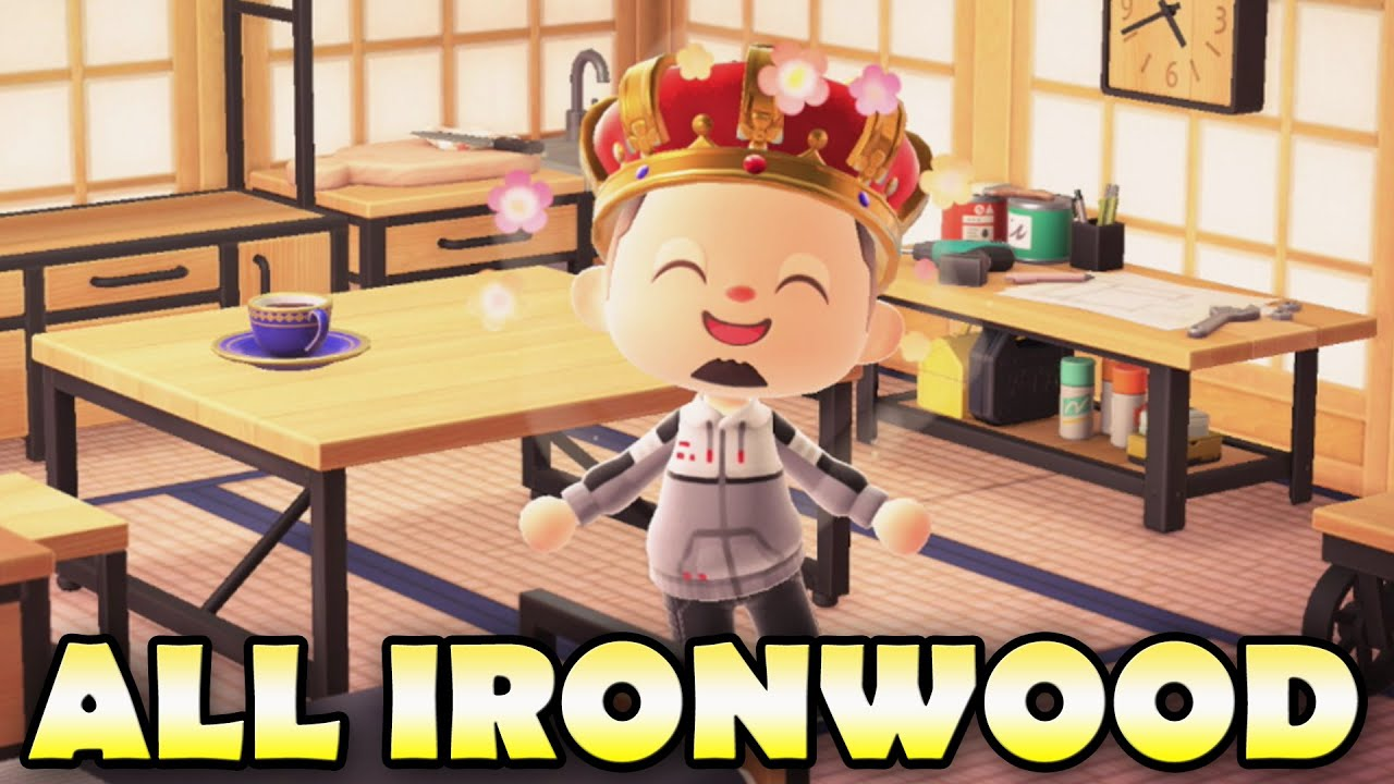 All Ironwood Items In Animal Crossing New Horizons How To Get Them Youtube