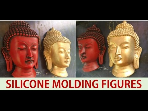 How to mold a Buddha face using silicone - DIY molding