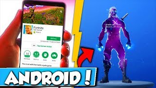 GALAXY SKIN only for ANDROID FORTNITE!! 😱
