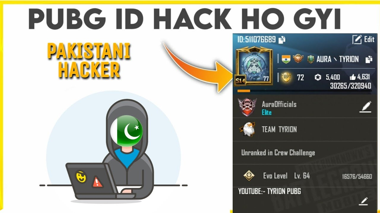 My Pubg Account has been Hacked by pakstani hacker | Need help! ?