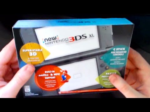 New 3DS XL Unboxing! [USA] Hands-On with the C-Stick, Super-3D and More