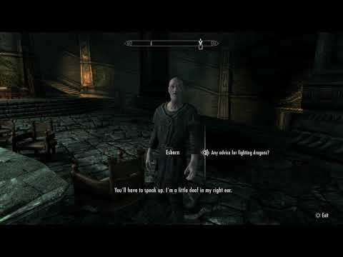 Skyrim Special Edition - Tell Delphine Alduin Is Dead Sequence (Dragon Slaying Blessing) (2016)